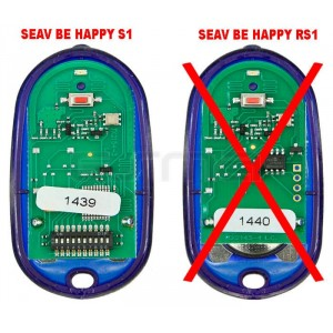 Télécommande de portail SEAV Be Happy S1