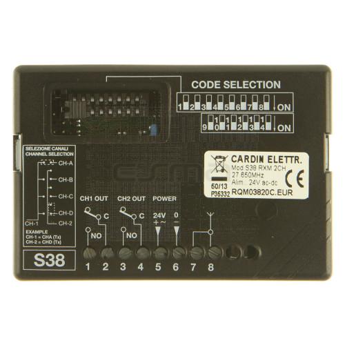 Récepteur CARDIN S38 RXM 2CH (RQM0382C) 27.195MHz