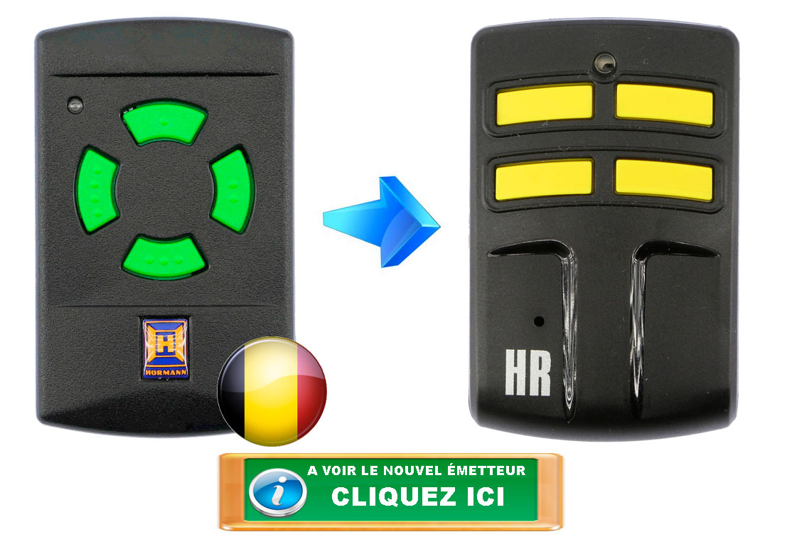 Télécommande Hörmann HSM4 26.995 + HR 26.995