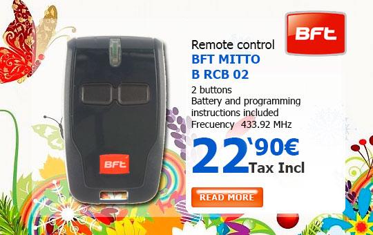 BFT MITTO B RCB TX2 Remote control