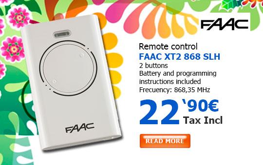 FAAC XT2 868 SLH remote control