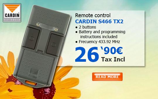 Cardin s466 tx2 Remote