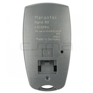 Télécommande de Garage MARANTEC D302-433 partie arriere